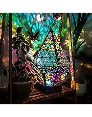 ASDFK Polar Star Boheemse staande lamp, grote staande lamp, kleurrijke 3D-projectienachtlamp, Boheems licht van kunststof in Boheemse stijl, cadeau voor de tuin