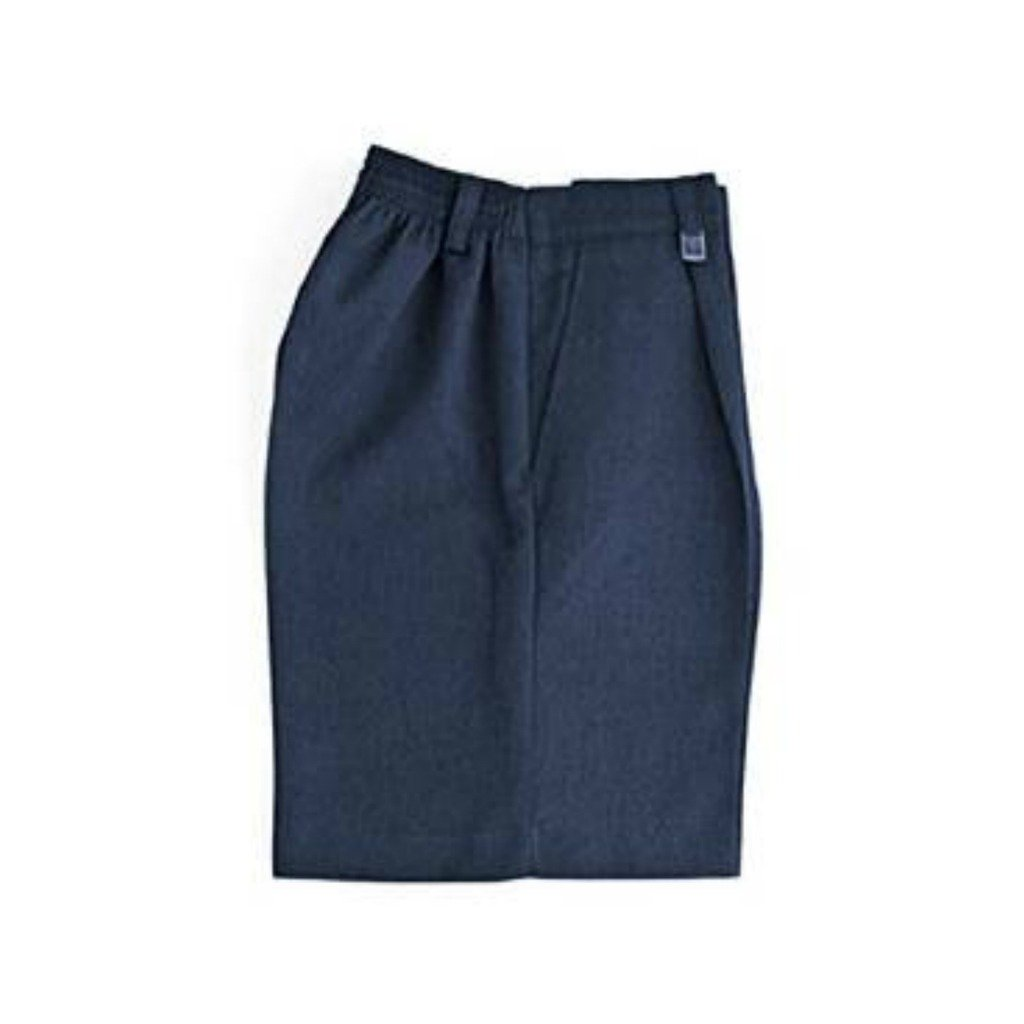 Half Elastic Sturdy Fit School Shorts Navy age 6-7 Waist 22-28in//56-71cm