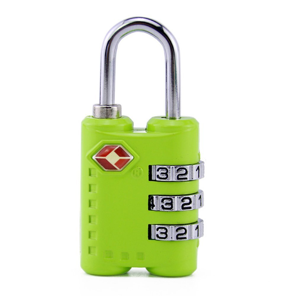 Lockmall TSA Combination Luggage Padlock,Luggage Travel Lock (Green, 2 Pack) 2 Pack)