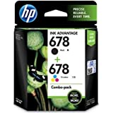 HP 678 L0S24AA Combo-Pack Ink Advantage Cartridges (Black and Tri-Color)