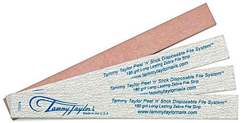 Tammy Taylor Peel 'n' Stick Long Lasing Zebra File 180 Grit (Pack of 50)