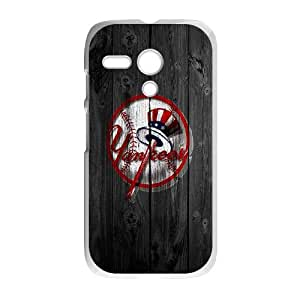 Motorola G Cell Phone Case White Wood yankees GY9137783
