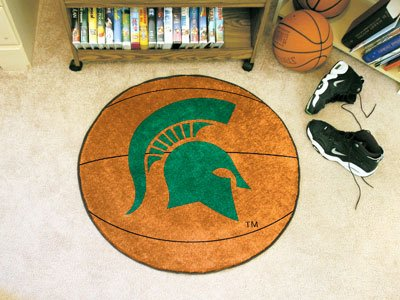 Fanmats Michigan State Spartans Basketball-Shaped (Michigan State Spartans Rug)