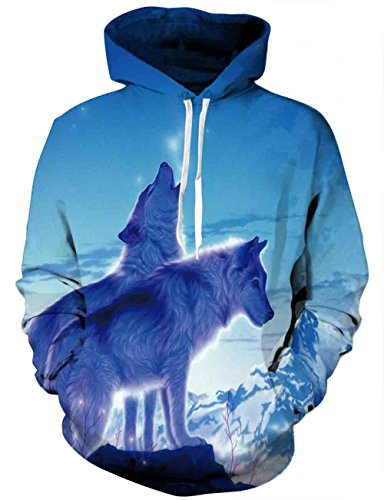 - Yasswete Unisex 3D Printed Hooded Sweatshirt Casual Pullover Hoodie with Big Pockets XX-Large