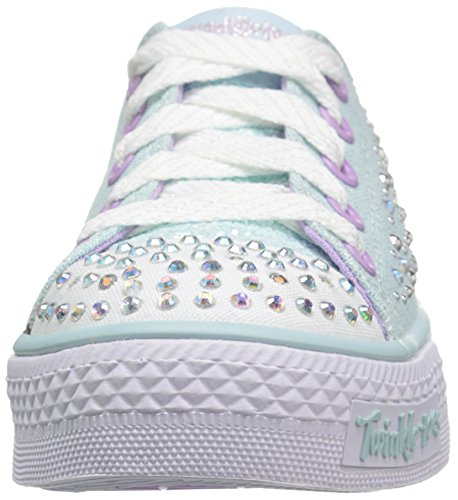 Skechers Unisex Kids' Twinkle Shuffles Twirly Toes Running Shoes Light Blue/Lavender wVcvyQ