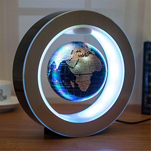 NEW Round shape Magnetic Levitation Floating Globe LED Light World Map Decor - Glasses To Where Get Round