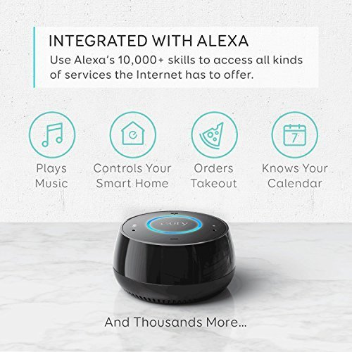 Eufy Genie Smart Speaker With Amazon Alexa, Voice Control and Hands-Free Use, Music Streaming, Smart Home Control, AUX Output, 2.4GHz Wi-Fi Network Support Only, No Bluetooth, Black