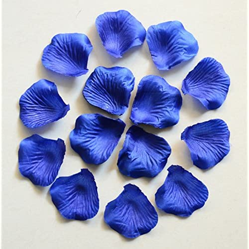 Royal blue wedding decorations amazon 1000pc royal blue wedding table decoration silk rose petals flowers confetti 5cm supplies wholesale junglespirit Images