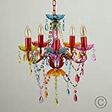 Modern Gypsy Multi-Coloured 5 Way Mini Marie Therese Ceiling Light Chandelie