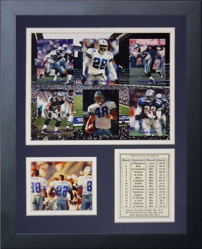 1993 Art - Legends Never Die Dallas Cowboys 1993 Super Bowl Champions Framed Photo Collage, 11x14-Inch