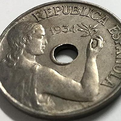 IMPACTO COLECCIONABLES Monedas Antiguas - La Guerra Civil Española, 25 Céntimos 1934 y 1937: Amazon.es: Juguetes y juegos