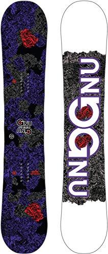 Gnu B-Nice Asym Snowboard Dark Womens Sz ()