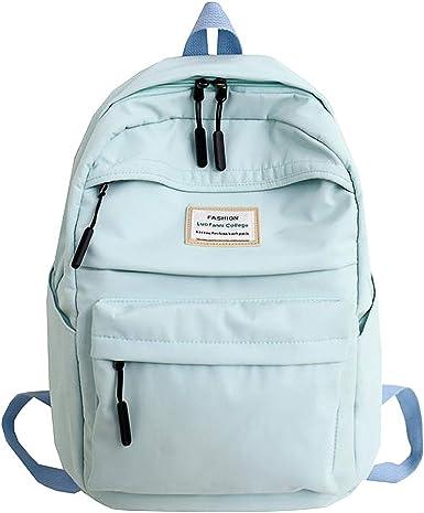 Color : Beige, Size : Free Size Lightweight School Bag Canvas Backpack Unisex Leisure Travel Bag Large Capacity Bag Travel Bag for Women