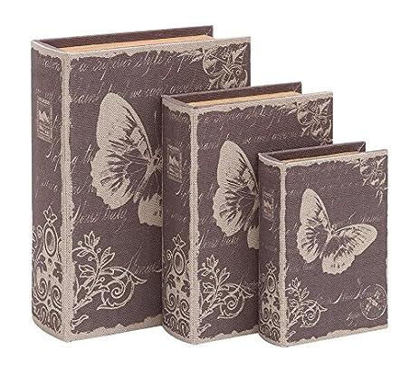 Amazon.com: Deco 79 Book Box Set with Paris Butterfly Theme: Home ...