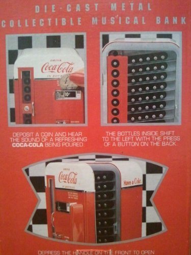 Coca Cola Vending Machine Musical Bank Vendo 1994