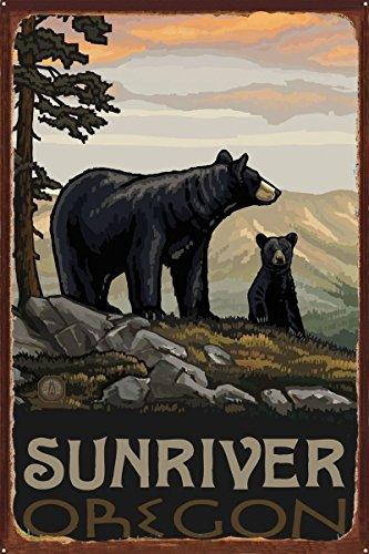 Northwest Art Mall Sunriver Oregon Black Bear Family Rustic