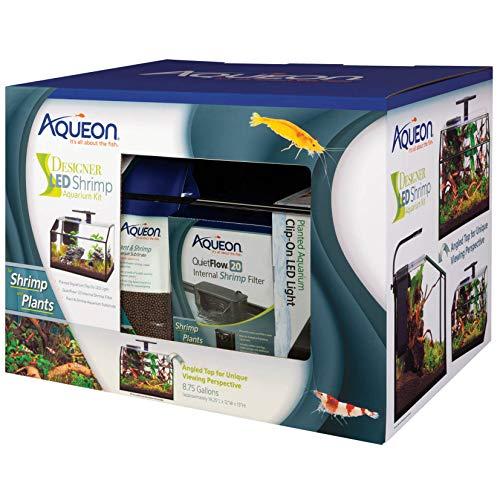 Aqueon 8.75 Gallon Designer LED Shrimp Aquarium Kit ()