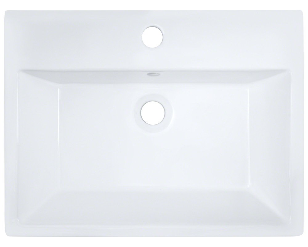V2502-W White Porcelain Vessel Lavatory Sink