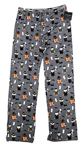 Halloween Lounge Pants (Festive Halloween Characters in Costume Womens Novelty Sleepwear Elastic Drawstring Lounge Pajama Pants (X-Small))