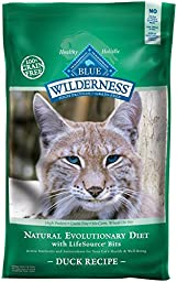 Blue Buffalo Wilderness Grain Free Dry Cat Food, Duck Recipe, 11-Pound Bag