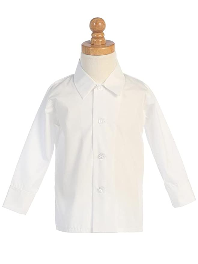 1930s Childrens Fashion: Girls, Boys, Toddler, Baby Costumes DapperLads Lito Little Boys White Long Sleeve Dress Shirt  AT vintagedancer.com
