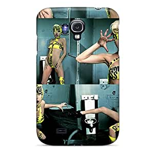 New CIanz34938IInHP Caution Tape Tpu Cover Case For Galaxy S4