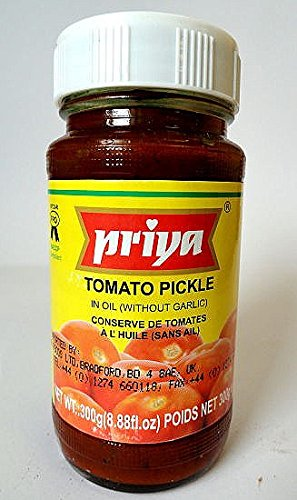 Priya Tomato Pickle without Garlic (300 g) Tomato Pickles