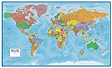 best world map wall murals Swiftmaps World Premier Wall Map Poster Mural 24h x 36w