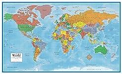 Swiftmaps World Premier Wall Map Poster ...