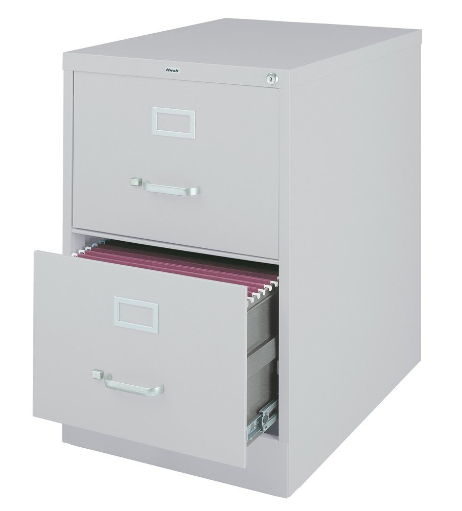 Lorell 2-Drawer Vertical File, Legal, 18 by 26-1/2 by 28-3/8-Inch, Light Gray S.P. Richards Company LLR60662