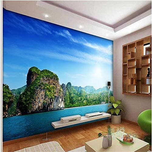 Mznm Custom Photo Wall Mural Wallpaer3D Luxury Quality Hd Sea Coast Islands Landscape Blue Screen Large Wall Mural Paper-150X120Cm