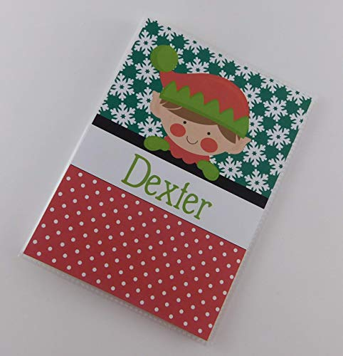 Christmas Elf Photo Album #IA816 4x6 or 5x7 Family Boy Girl Picture Holiday Keepsake Gift