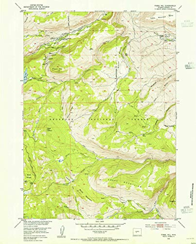 YellowMaps Fossil Hill WY topo map, 1:24000 Scale, 7.5 X 7.5 Minute, Historical, 1953, Updated 1955, 26.9 x 21.6 in - Paper