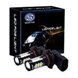 9145 red led fog light bulbs - Smautop Extremely bright 80W H10 LED Fog Light Bulb 9145 New Virsion 6000K White Replacement DRL Extremely Brighter Pack of 2-2 Yr Warranty
