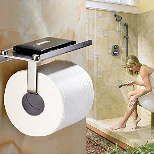 Toilet Paper Holder,Bathroom Tissue Roll Hanger,eBerry¨ Wall Mount Paper Towel Hooks/Dispenser/Storage/Organizer