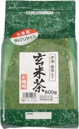 Kunitaro Tea - VALUE: Genmai-cha Traditonal Japanese Blended Tea with Matcha 500g Value Price & Extra Volume from Japan 【NO tracking - Us Number Tracking