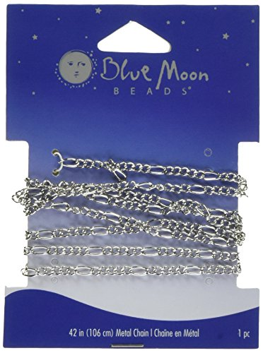 blue-moon-figaro-chain-42-inches-1-pkg-silver