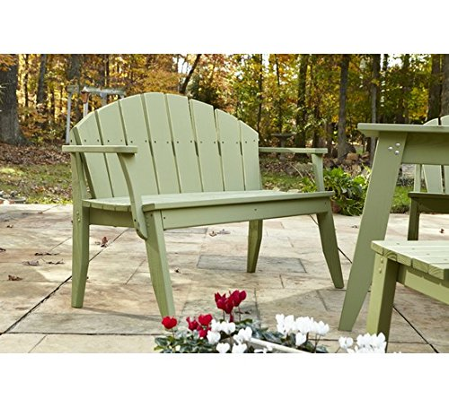 (Uwharrie Chair Co P072-82-Coffee-Dist-Pine Plaza 2-Seat Bench Back, Coffee-Distressed)