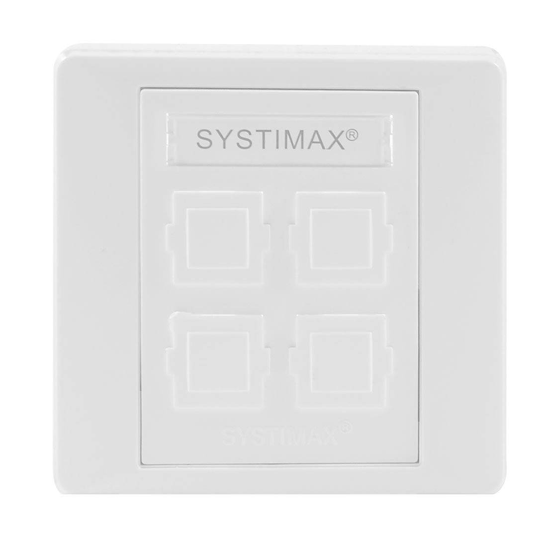 86mm 4 Port Network Wall Plate Faceplate White for Home Office Sourcingmap Amico