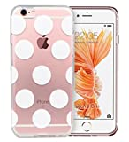 iPhone 6S Case,iPhone 6 Case,RorSou Slim Fit Hybrid[Crystal Clear]Transparent Flexible Grip[Scratch Resistant]Soft TPU Protective Bumper With 1 Earphone Dust Plug For iPhone 6S 4.7 inch (White Dot)