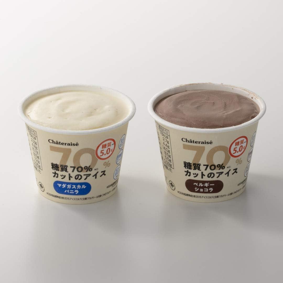Amazon | シャトレーゼ 糖質70%カットのアイス 2種16個入 バニラ チョコ 詰合せ 糖質5.0g 糖質制限 糖質オフ 低糖質スイーツ | シャトレーゼ | アイスクリーム 通販