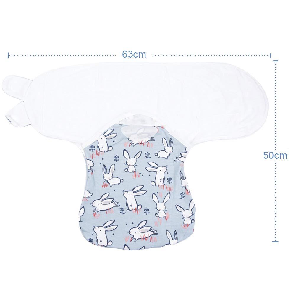 Lekebaby Manta Envolvente para Bebé y Recien Nacido – 2x Saco de Dormir Manta de Arrullo Cobija 100% Algodón - 0-3 Meses unisexo