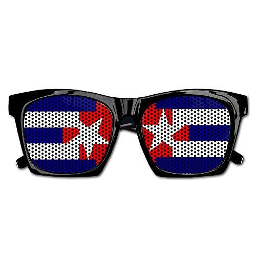 Cuba Flag Mens/Womens Resin Sunglasses - Classic Full Frame - Italy Sunglasses Police
