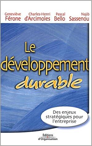 Livres gratuits Le Développement durable pdf