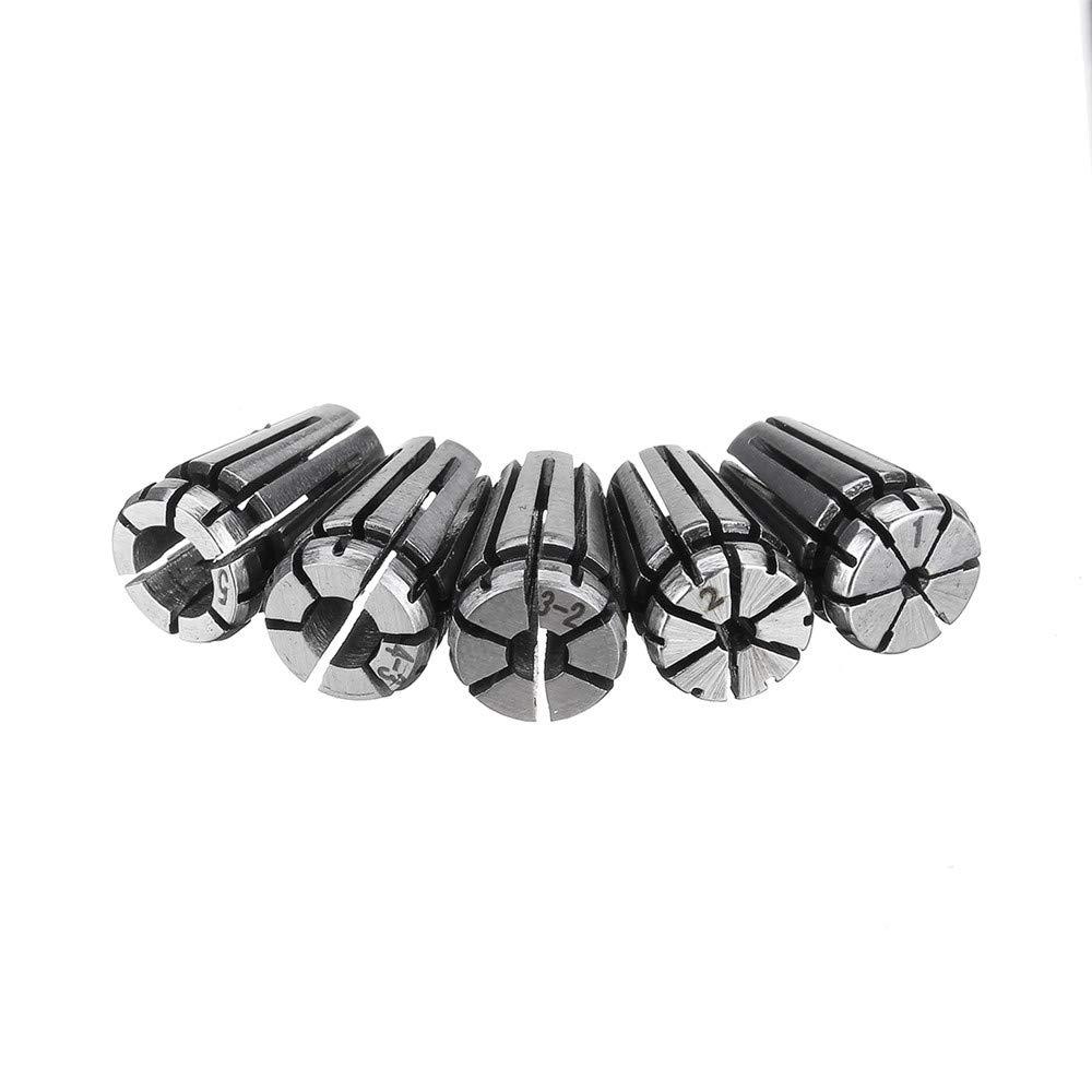 ExcLent 5Pcs Er8 1-5Mm Feder Collet Collet Chuck Set F/ür Cnc Fr/äsen Drehmaschinen Werkzeuge