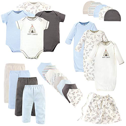 Touched by Nature Baby Organic Layette, Teepee 25 Piece Set, 0-6 Months (6M) ()