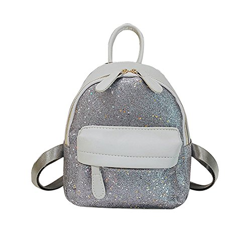 Slendima Fashion Sequin Tiny Star Decor Faux Leather Women Backpack School Travel Shoulder Bag,Casual Day pack - 3 Colors by Slendima