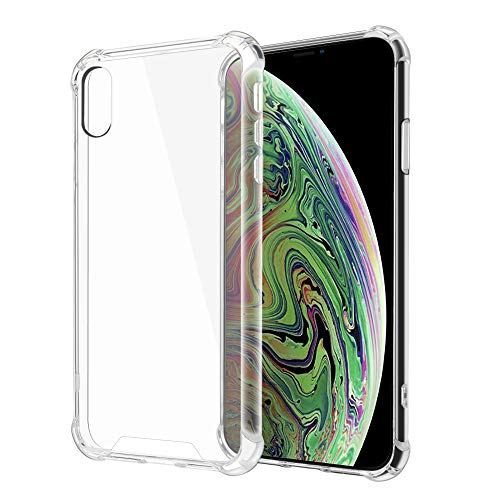 MOONLUX Case Compatible for Apple iPhone XR,Reinforced Corners TPU Aircushion & PC Back Cover Anti-Scratch,Transparent