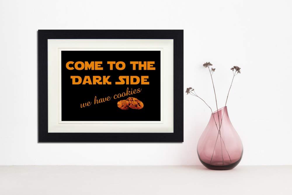 1art1 114190 Spa/ß We Have Cookies Gerahmtes Poster F/ür Fans Und Sammler 40 x 30 cm Come to The Dark Side