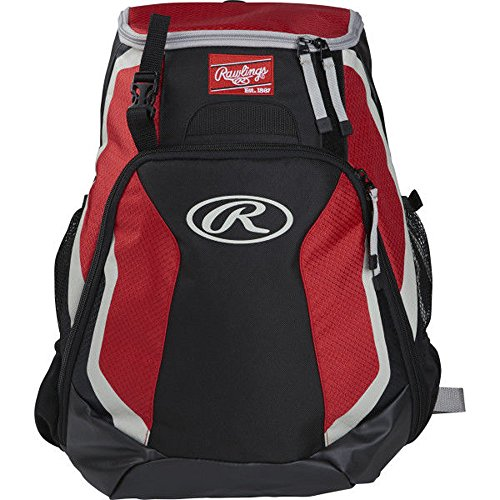 Rawlings R500 Series Baseball/Softball Backpack, Scarlet